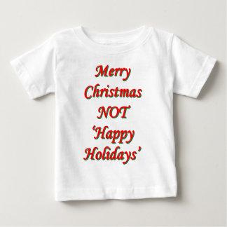メリークリスマス、ない「幸せな休日 ベビーTシャツ