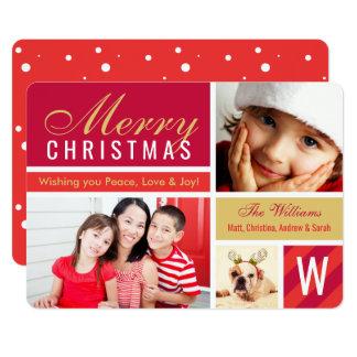 メリークリスマス|の赤い写真カードコラージュ カード