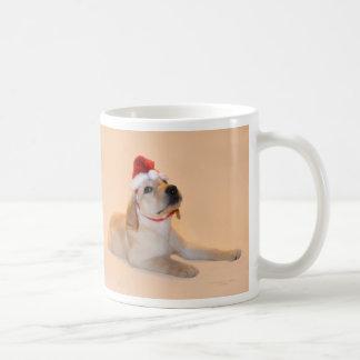メリークリスマス-イエロー・ラブラドール・レトリーバー コーヒーマグカップ