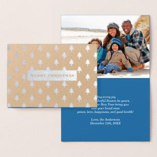 メリークリスマス。 カスタムなクリスマスの写真カード 箔カード