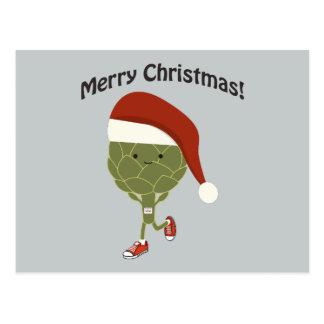 メリークリスマス! サンタの連続したアーティチョーク ポストカード
