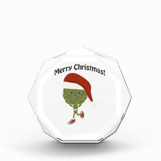 メリークリスマス! サンタの連続したアーティチョーク 表彰盾
