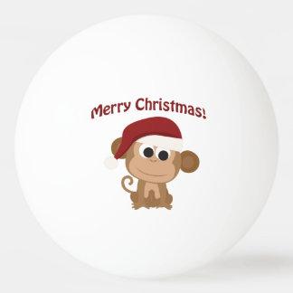 メリークリスマス! サンタ猿 卓球ボール