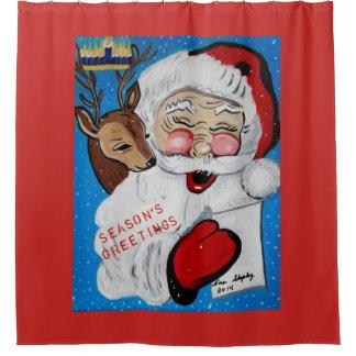 メリークリスマス シャワーカーテン