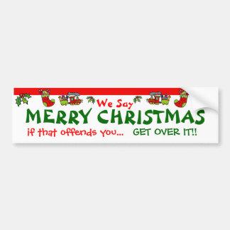 メリークリスマス バンパーステッカー