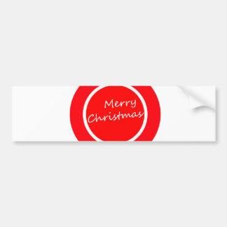 メリークリスマス(バンパーステッカー) バンパーステッカー