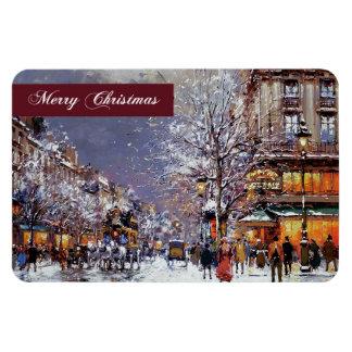 メリークリスマス。 ファインアートのクリスマスのギフトの磁石 マグネット