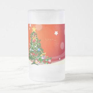 メリークリスマス フロストグラスビールジョッキ