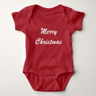 メリークリスマス ベビーボディスーツ