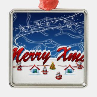 メリークリスマス メタルオーナメント