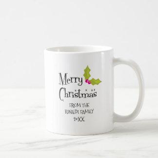 メリークリスマス、レトロの休日 コーヒーマグカップ