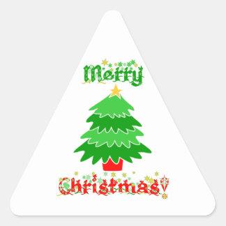 メリークリスマス 三角形シール