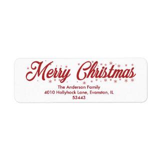 メリークリスマス-原稿のラベル ラベル