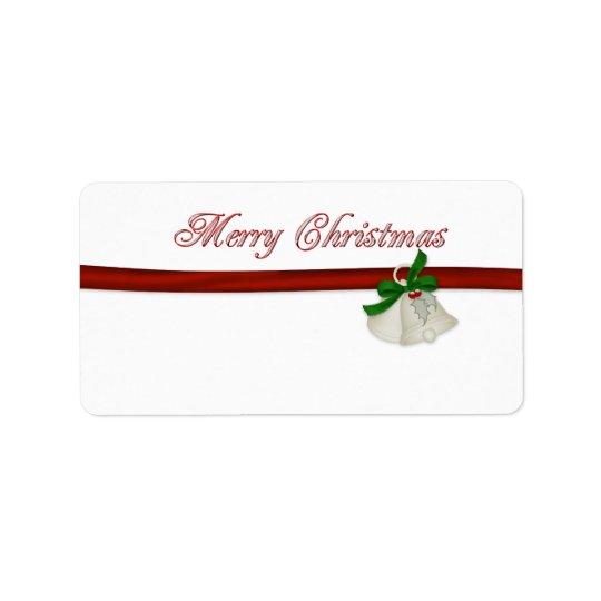 メリークリスマス 宛名ラベル