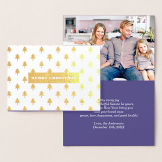 メリークリスマス。 実質ホイルのクリスマスの写真カード 箔カード