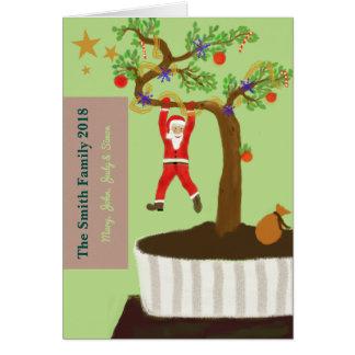 メリークリスマス! 小さい恵みを…楽しんで下さい カード
