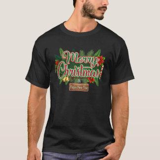 メリークリスマス-明けましておめでとうの休日のTシャツ Tシャツ