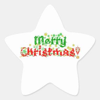 メリークリスマス 星シール