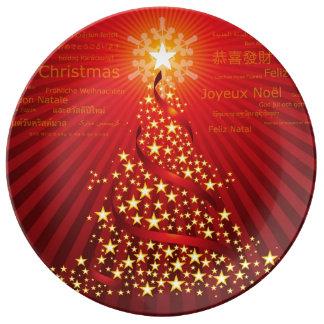 メリークリスマス 磁器プレート