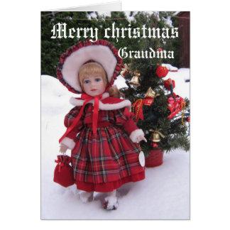 メリークリスマス、祖母 カード