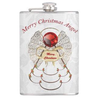 メリークリスマス-線条細工のクリスマスの天使 フラスク