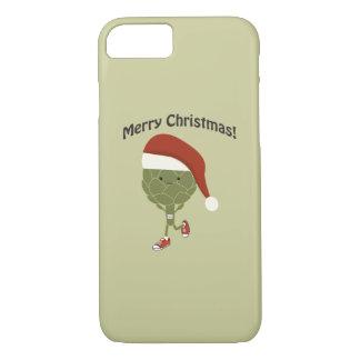 メリークリスマス! 連続したアーティチョーク iPhone 8/7ケース