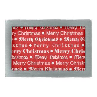 メリークリスマス 長方形ベルトバックル