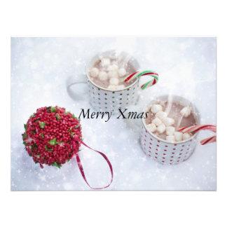 メリークリスマス-雪のチョコレート フォトプリント