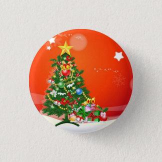 メリークリスマス 3.2CM 丸型バッジ