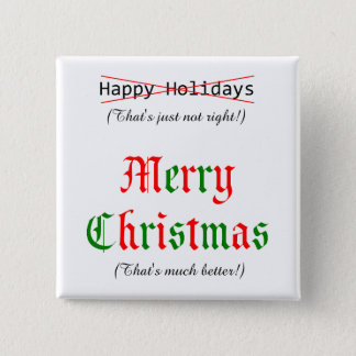 メリークリスマス 5.1CM 正方形バッジ