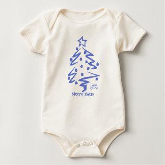 メリークリスマス- iのクリスマスのTシャツ ベビーボディスーツ