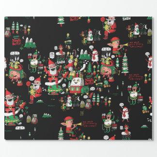 メリークリスマスHO-HO-HOの包装紙! ラッピングペーパー