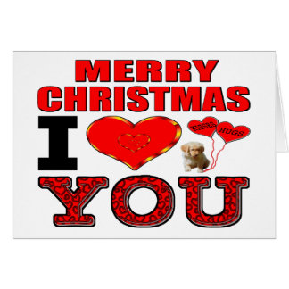メリークリスマスI愛 カード