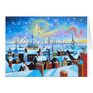 メリークリスマスScroogeおよびロンドン グリーティングカード