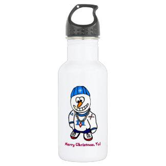 メリークリスマスYoの話し手の雪だるま ウォーターボトル