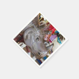 メリーゴーランドのサイの回転木馬の乗車 スタンダードカクテルナプキン