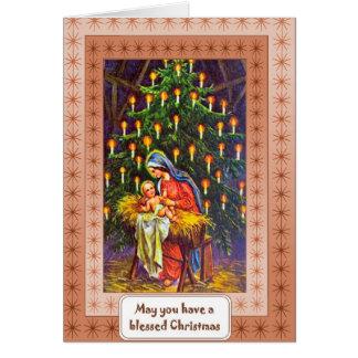 メリーマドンナおよび子供 カード