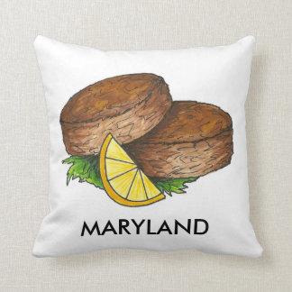 メリーランドのクラブケーキはCrabcakesの食糧枕を固めます クッション