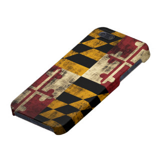 メリーランドのグランジな旗 iPhone SE/5/5sケース