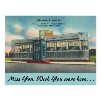 メリーランドのシャムロックのダイナー ポストカード