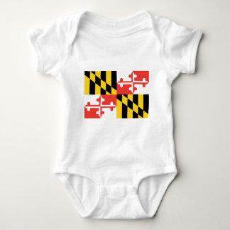 メリーランドの公式の州の旗 ベビーボディスーツ