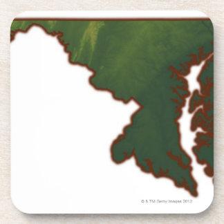 メリーランドの地図 コースター