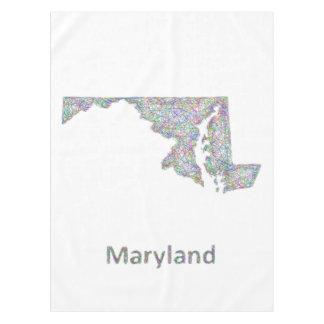 メリーランドの地図 テーブルクロス