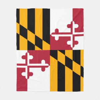 メリーランドの州の旗のお祝いのデザイン フリースブランケット