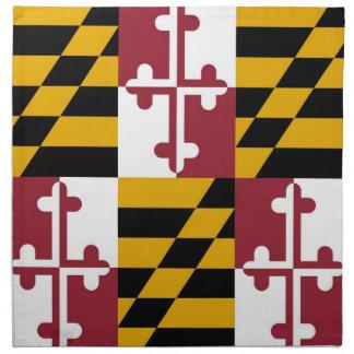 メリーランドの州の旗のアメリカ人のMoJoのナプキン ナプキンクロス