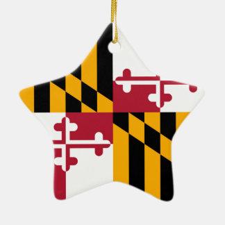 メリーランドの州の旗のカラー・グラフィック セラミックオーナメント