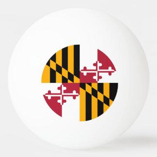 メリーランドの州の旗のカラー・グラフィック 卓球ボール