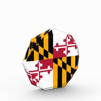 メリーランドの州の旗のスタイリッシュなグラフィック 表彰盾