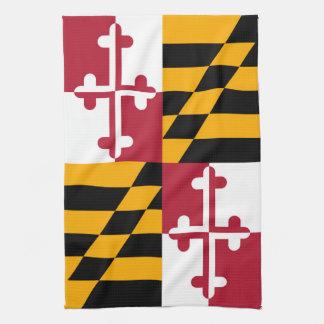 メリーランドの州の旗のスタイルの装飾 キッチンタオル
