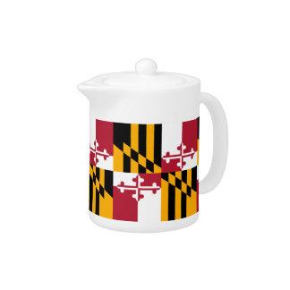 メリーランドの州の旗のデザインのアクセント